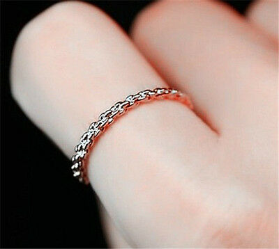 18K White Gold Gp  Unique Fashion Ring Size 6,7,8,9 Available BR971