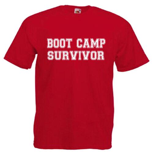 Boot Camp Survivor Children/'s Kids T Shirt