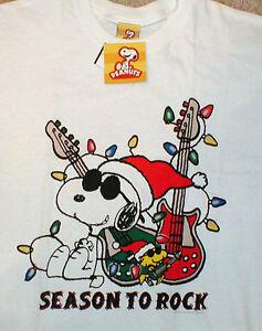 image is loading snoopy christmas t shirt peanuts white medium joe