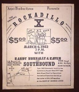 Vintage Randy Nunnally Of First State Bank Band Rock Flyer Dallas, Texas Flyer