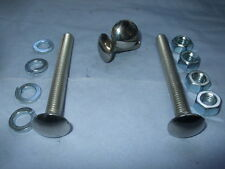 Bumper Bolt Set for Escort, Cortina, Capri & Many More - 2 Long & 2 Short Bolts