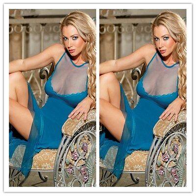 Plus Size Ladies Lace Lingerie Sleepwear  Dress Underwear Babydoll Nightwear
