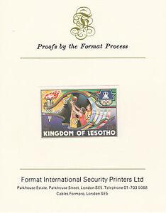 Lesotho-2630-jeux-olympiques-de-1984-de-basket-ball-sur-format-international-preuve-carte