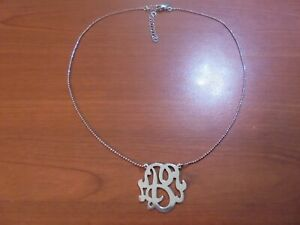 "De Colección De Plata De Ley Bola Cadena Collar Colgante inicial B 16-18"" 4.8 gramos de Italia"