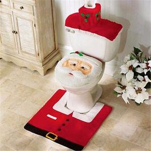 Copri Wc Babbo Natale.Dettagli Su Copri Water Copriwater Tappeto Tappetino Gabinetto Toilette Babbo Natale Bagno