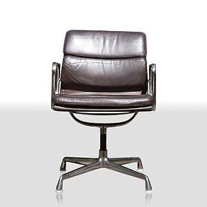 charles eames stuhl ea207 aluminium group soft pad herman miller by vitra leder ebay. Black Bedroom Furniture Sets. Home Design Ideas