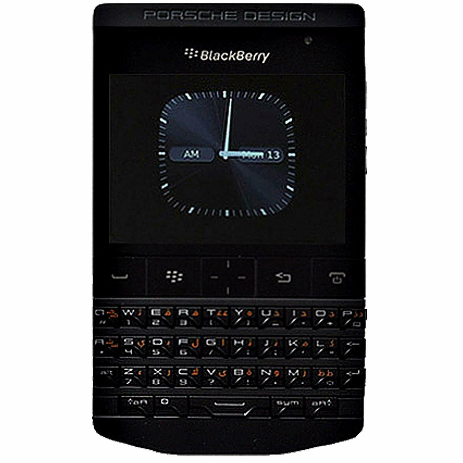 New BlackBerry Porsche Design P9981 QWERTY+Arabic Black Factory Unlocked SIMFree