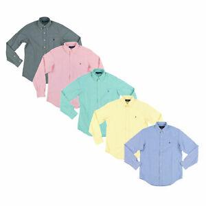 Polo-Ralph-Lauren-Para-hombres-Calce-Clasico-Oxford-buttondown-Camisa-camisa-de-mangas-largas-PRL