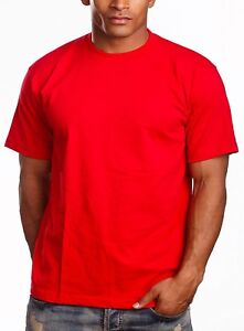 065e5620 Plain T-Shirts Men's Pro5 Pro 5 Short Sleeve Round Neck - Red 3 Pack ...