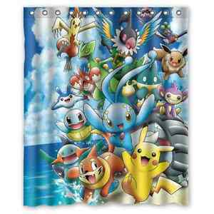 Brand New Pokemon Waterproof Bathroom Shower Curtain 60 x 72 Inch