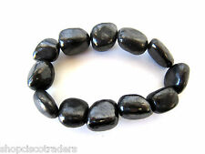 Shungite 15mm Nugget Stretch Bracelet QTY1 Russia Healing Crystal Cleanser