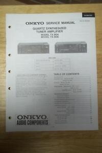 onkyo service manual for the tx 904 tx 906 tuner amplifier amp rh ebay com onkyo tx-nr906 service manual onkyo tx-nr906 manual