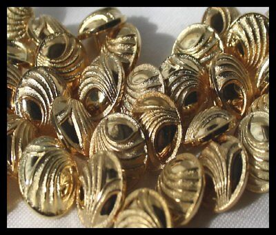 GOLD SHANK BUTTONS FOR CARDIS BLAZER COATS JACKETS SIZE 18MM same day postage