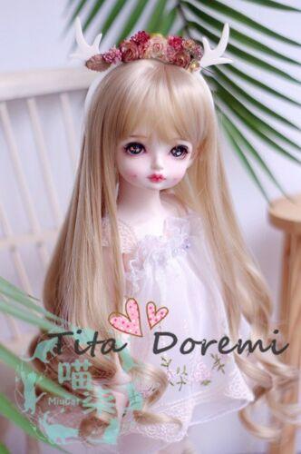 Perruque Bjd Doll 1//3 8-9 Dal Pullip SD Accessoire Cheveux Longs Dollfie Brown