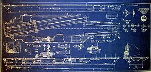 Us navy aircraft carrier uss kitty hawk cva 63 blueprint 17x35 270 image is loading us navy aircraft carrier uss kitty hawk cva malvernweather Gallery