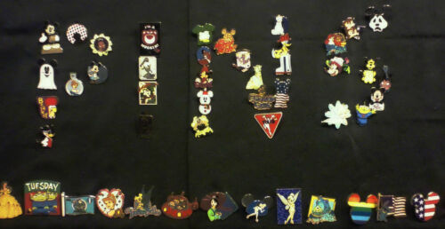 DISNEY PINS 40 DIFFERENT PINS FASTEST SHIPPER IN USA CL HM /& CAST PINS LE