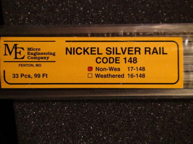 Gleis 91,4cm 33 x Spur 0 Micro Engineering Track Code 148 Nickel Silver