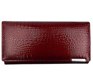e47dec7962d2c9 Das Bild wird geladen Geldboerse-Damen-Portemonnaie-Lack-Brieftasche- Portmonee-echtes-Leder-