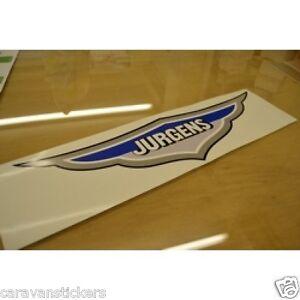Details about JURGENS Caravan Roof Name Plaque Sticker Decal Graphic -  SINGLE
