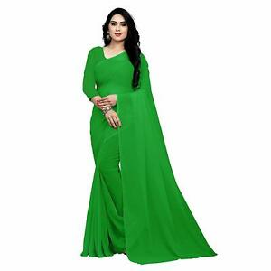 Indian-Ethnic-Party-Wear-Sari-Designer-Bollywood-Wedding-Georgette-Green-Saree