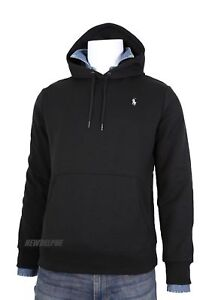Polo-Ralph-Lauren-Men-039-s-Classic-Pullover-Hoodie-Sweatshirt-Sz-M-Black-or-Navy