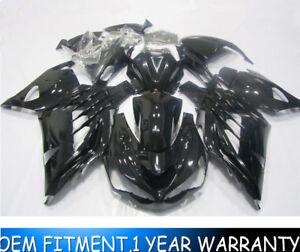 Details About Glossy Black Injection Fairing Kit For Kawasaki Ninja Zx14r 2012 2019 13 14 15