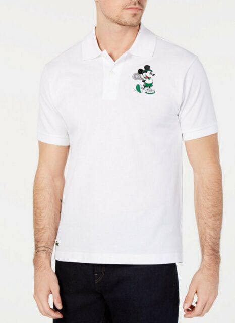 644556f8 Lacoste Men's White Solid Disney Mickey Mouse Short Sleeve Polo Shirt