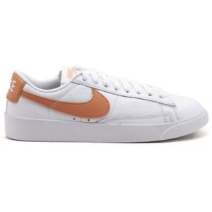 Dettagli su Scarpe sportive donna NIKE Blazer in pelle bianco e cipria AV9370-100