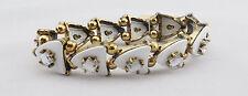 MACY'S White-Gold toned Strech Bracelet Msrp $24.50