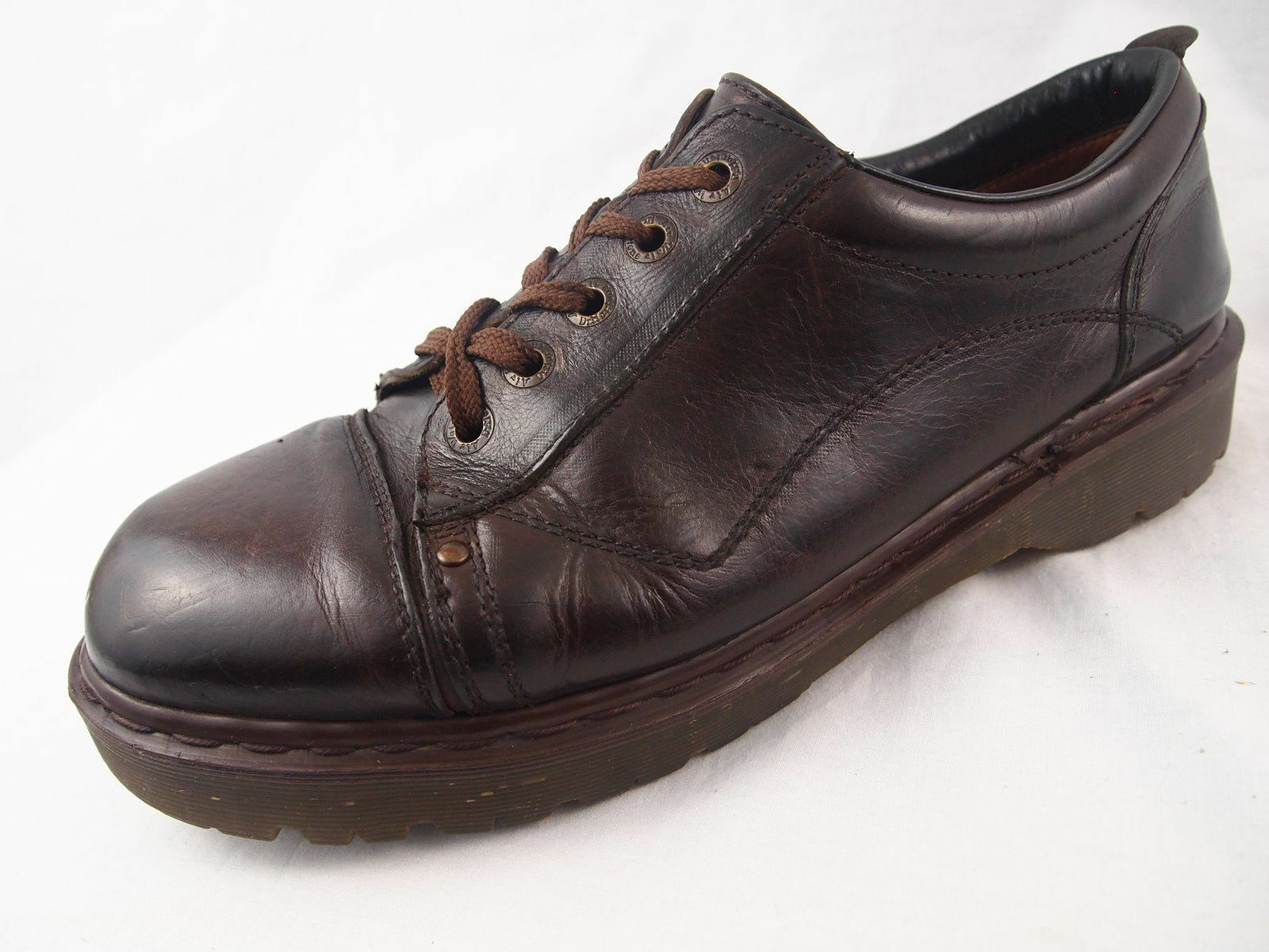 Scarpe casual da uomo  Doc Dr Martens Brown Leather Oxford Shoes uomos 13 England