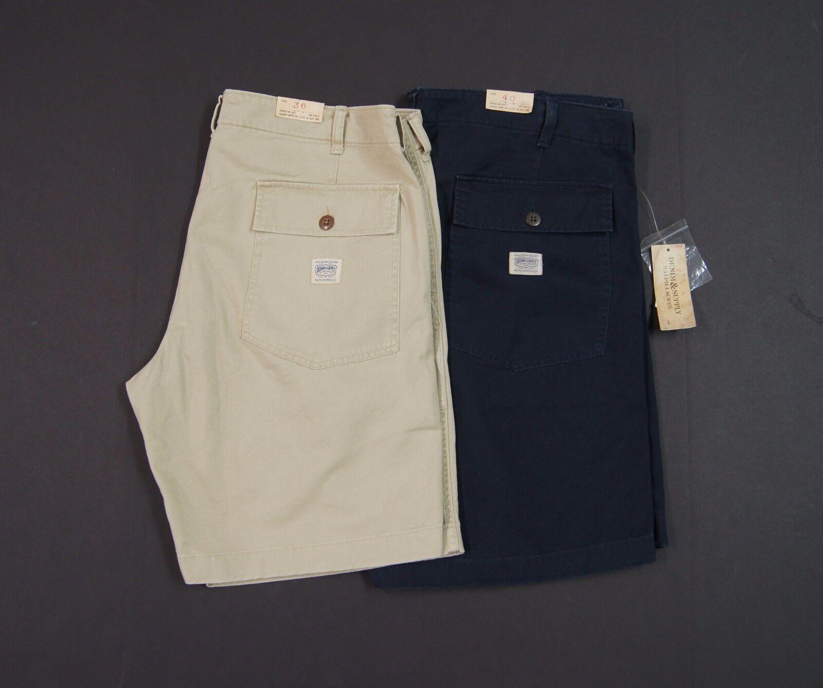 DENIM & SUPPLY RALPH LAUREN Men Cotton Twill Utility Shorts NEW NWT