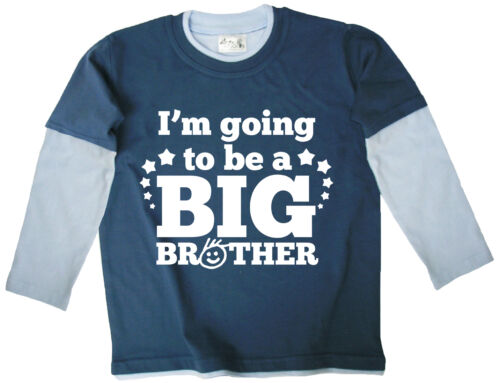 """Dirty Fingers /""""I/'m Going to be a Big Brother/"""" Long Sleeve Skater Top Tee"""