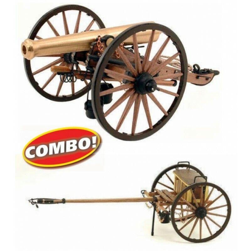 Armas históricas, modelo ms4003cb, cañones Napoleón y ex latón.