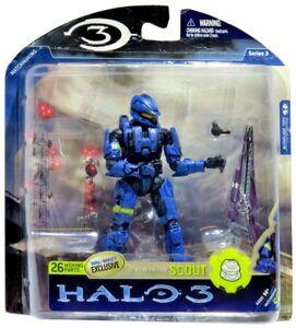 Halo 3 Series 1 Spartan Soldier CQB Action Figure McFarlane 2008 Walmart Blue