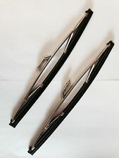 "FORD CONSUL MK2 1956- 62 NEW PAIR OF WIPER BLADES 12"" ALLOY FINISH (WB1)"