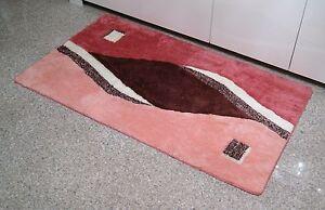 Badteppich Badematte Badvorleger 80x140cm Braun Lachs Rosa Edel