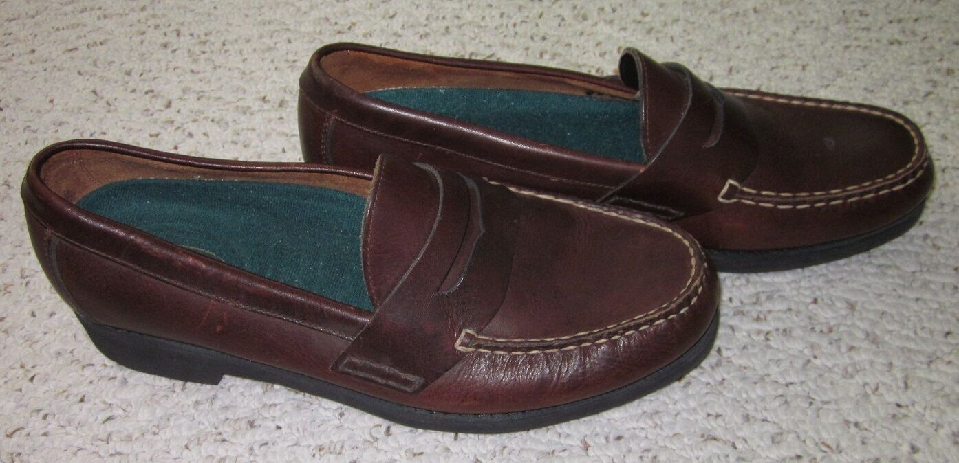 Rockport Leather Mens Brown Leather Rockport Penny Loafers 11.5 M 7448a6