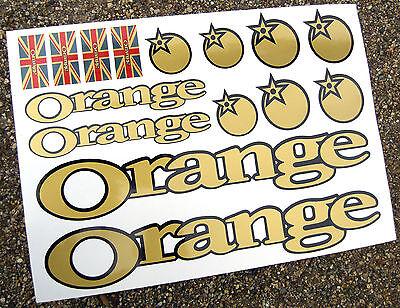 ORANGE Mountain Bike 'GOLD' MTB Cycle Frame Stickers