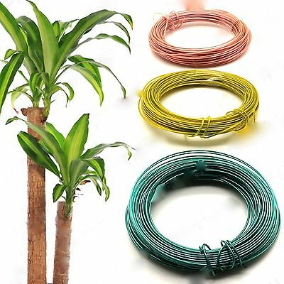 PACK OF 3 x 10 METRE HANDY COLOURED PLASTIC COATED TWIST WIRE GARDEN TREE TIE