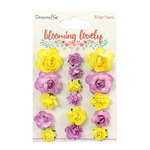 Dovecraft Hermosa Flor Flores Papel Adornos para tarjetas y