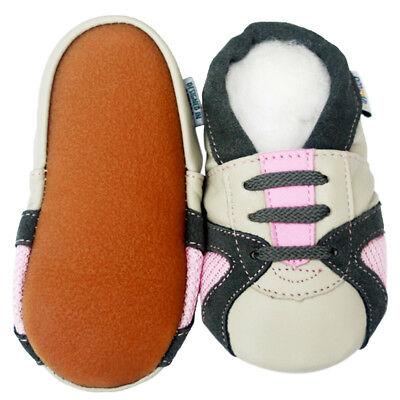 Jinwood Leather Baby Infant Children Rubber Sole  Shoe 18-24M Littleoneshoes
