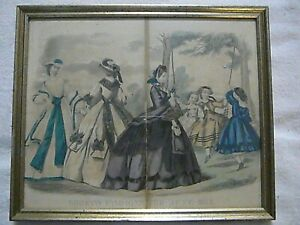 Gettysburg-Civil-War-era-Print-Godey-039-s-Fashions-For-June-1863-Ladies-Dresses
