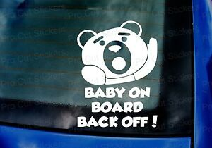 200mm-x-150mm-Ted-Baby-on-Board-Back-Off-Funny-Movie-Car-Sticker-Decal-Film