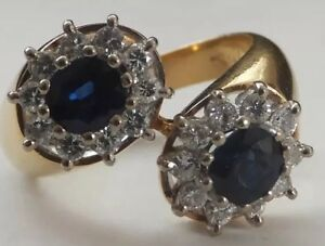 18ct-Gold-Sapphire-and-Diamond-Ring