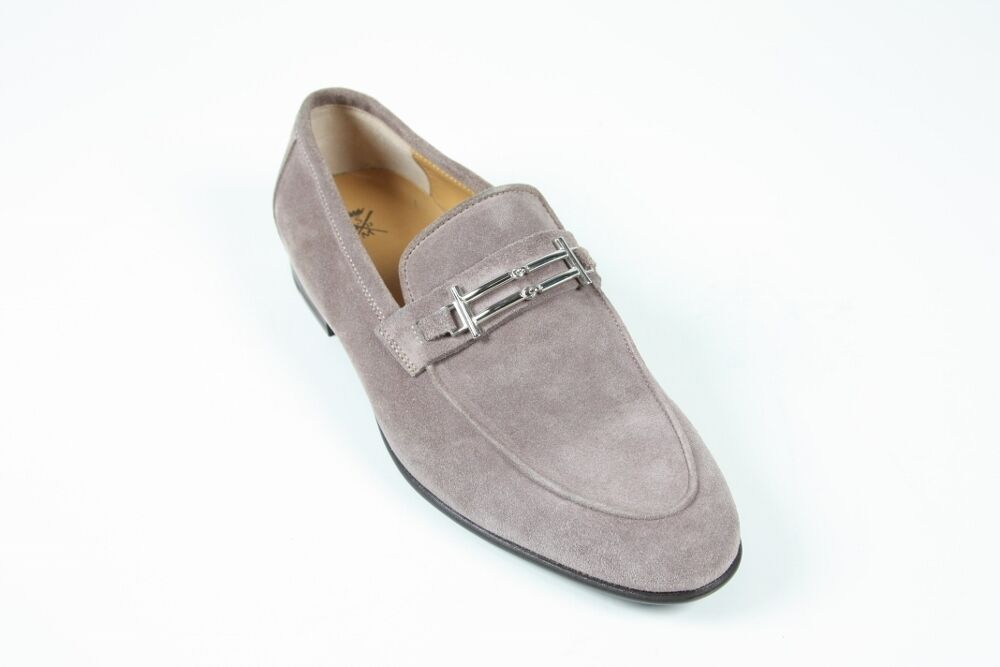 Sutor Mantellassi Shoes: 10.5 UK / 11.5   Cashmere grey buckled loafer