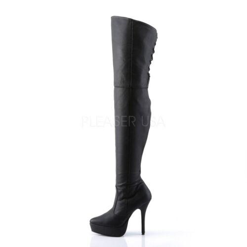 Devious indulge 3011 plataforma botas altas negro poledance tabledance Gogo