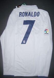 uk availability 7b15c 9274e Details about Adidas Real Madrid Cristiano Ronaldo Jersey Shirt Manchester  United Long Sleeve
