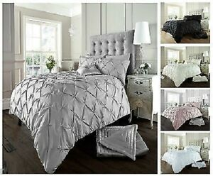 Diamond-Alford-Pintuck-Duvet-Cover-Set-With-Pillow-Case-Bed-Line-Quilt-Sets