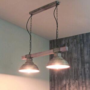 Details zu Vintage Pendelleuchte 2x E27 Shabby Leuchte Hängelampe Decke  Küche Beleuchtung
