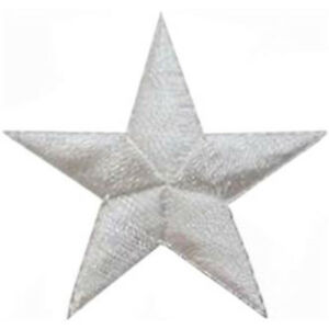 Patch-Embroidered-Fusible-Star-White-1in